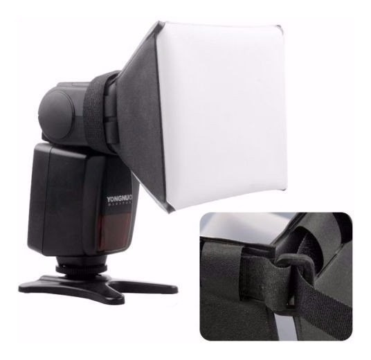 Difusor P/ Flash Nikon Canon Mini Softbox Universal Dobravel
