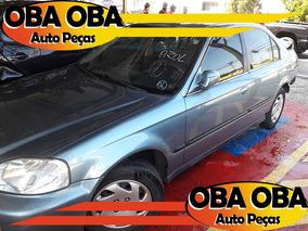 Honda Civic Lx 1.6 16v Aut 98/99 Sucatas E Batidos
