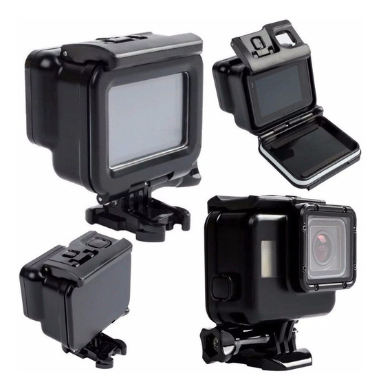 Caixa Estanque Case Para Gopro Hero 5 6 7 Black Tampa Touch