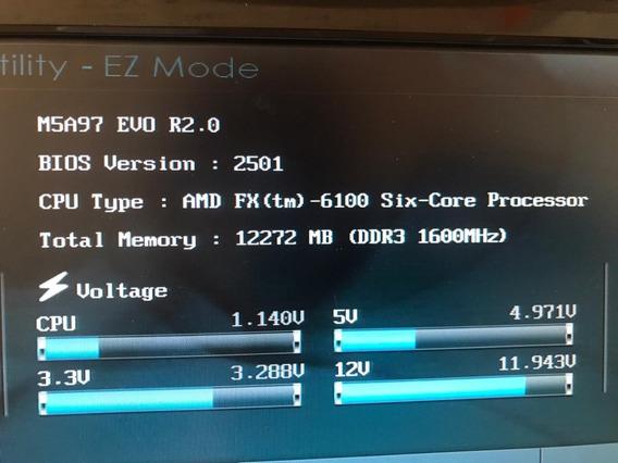 Placa Mãe Asus M5a97 Evo R2.0 + Fx6100 + 12 Gb Ddr3 1600mhz