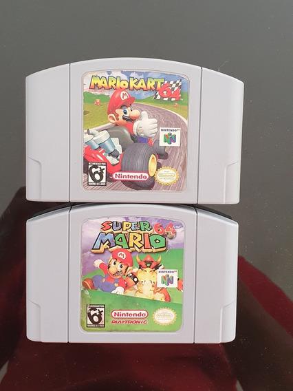 Mario Kart 64 + Mario 64 Original N64_