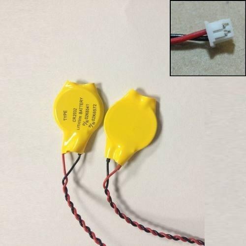 Bateria Botão Cr2032 Cmos Com Conector 02 Pinos De Placa Mãe