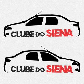 Kit 2x Adesivos Clube Do Siena Carro Personalizado 15cm A971