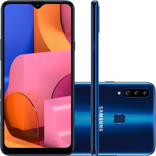 Smartphone Samsung Galaxy A20s 32gb 4g Câmera Tripla Azul
