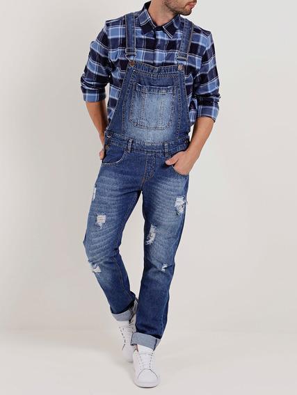Macacão Jeans Masculino Azul