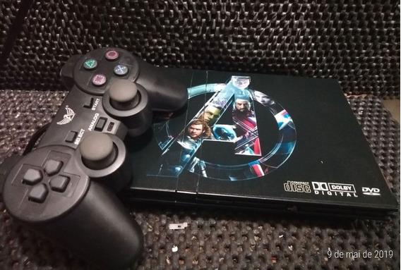 Playstation 2 Reformado Com Leitor Novo +controle Novo +jogo
