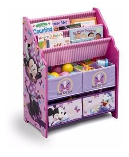 Librero Revistero Juguetero Infantil 3 En 1 Minnie Disney