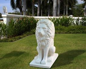 Escultura Leão De Concreto Ou Resina 1m
