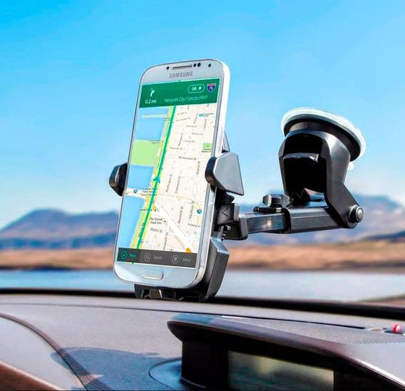 Suporte Para Celular De Por No Carro No Vidro Gps Automotivo