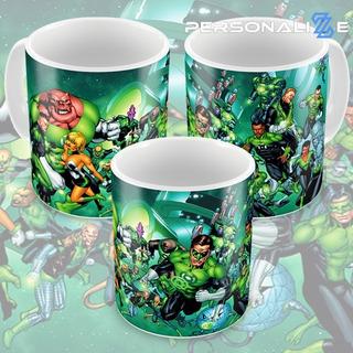Caneca Lanterna Verde Quadrinhos Hq Dc Comics Modelo 07 M