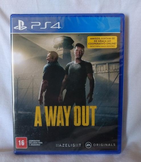 A Way Out Ps4 Mídia Física Lacrado