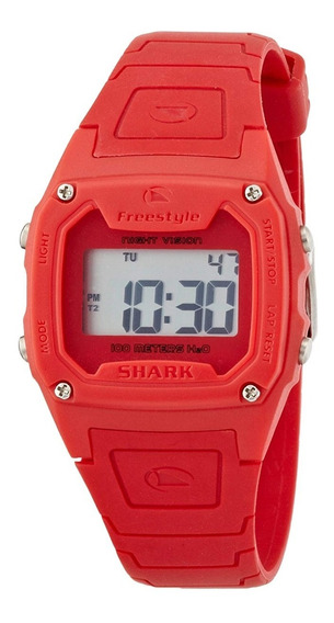 Relógio Fs81262 Digital Shark Classic Solid Red Freestyle
