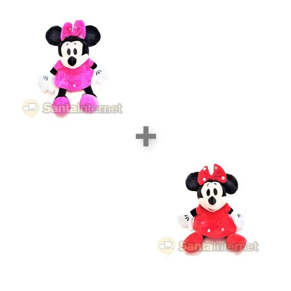 Kit C/ 10 Minnie Rosa Ou Vermelha A Escolha De Cor 27cm