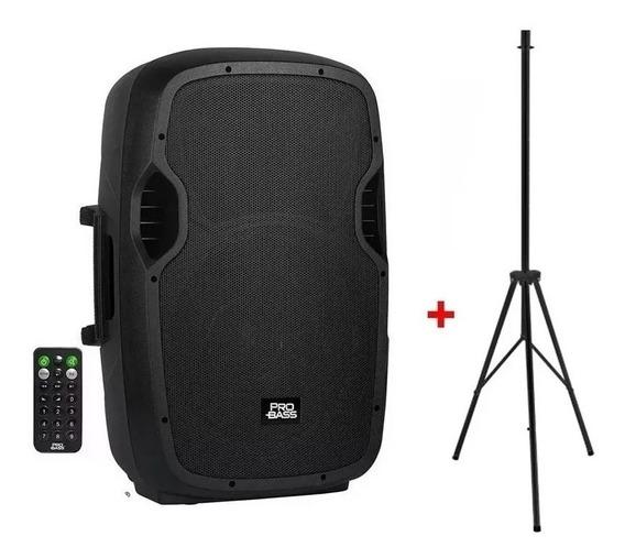 Caixa Amplificada 15 Pol Probass 800w Bluetooth +tripe / Frete Grátis