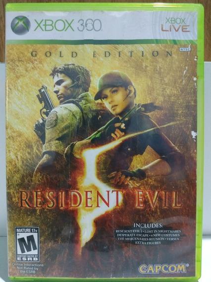 Residente Evil 5 Gold Edition Xbox 360 Mídia Física Original