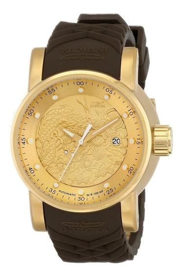 Relógio Invicta Yakuza 12790 Original Ouro 18k