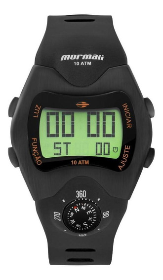 Relógio Masculino Mormaii Pro Digital Mo1324ac/2p 44mm Preto