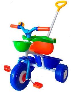 Triciclo Rondi Con Empuje Blue Pink Metal Babymovil