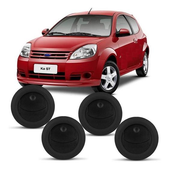 Conjunto De Difusor Ar Ford Ka Com 4 Peças Preto 2010 2011