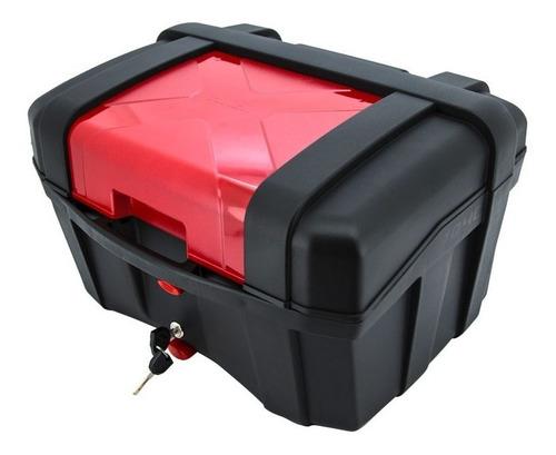 Baul Moto Tomcat 40 Litros Color Rojo Dim