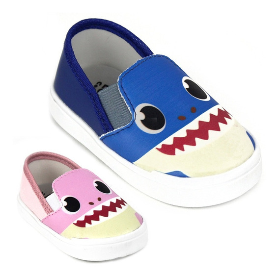 Sapatinho Tenis Bebe Baby Shark Infantil Menino Menina