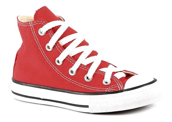 Tênis All Star Infantil Cano Alto Vermelho-converse Original