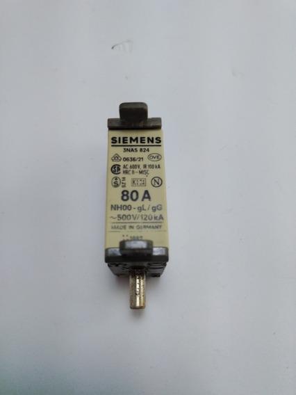 Fusível Nh Siemens 3na5 824 80a Amperes
