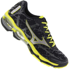 9fcc0bb8f2d Tênis Mizuno Wave Creation 16 Import. Oficial Preto+ Amarelo