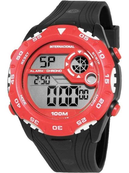 Relógio Technos Inter Oficial Vermelho Com Preto Int1360/8r