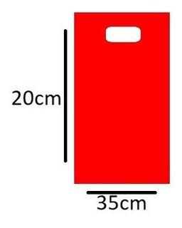 Bolsa Tipo Boutque 1kg 20x35 Cm Color Rojo Bolsa Bisutería