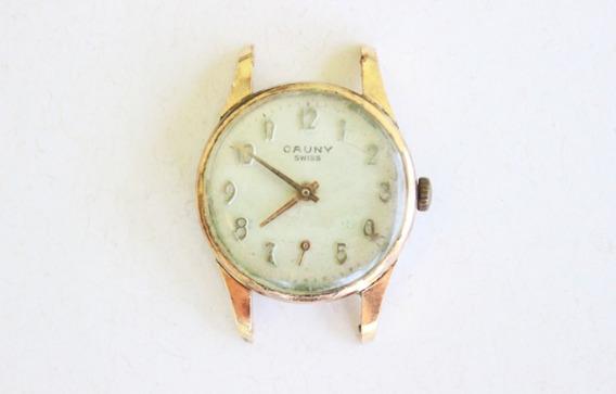 Antigo Relógio De Pulso Cauny Plaquê De Ouro - No Estado