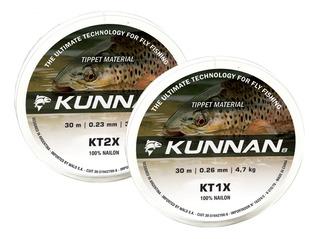 Tippet Fly Pesca Mosca Kunnan Carretel 30m 0x 1x 2x 3x 4x 5x