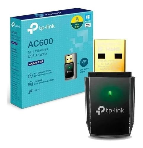Imagen 1 de 4 de Receptor Wifi Usb Tp-link Archer Ac600 Dual Band T2u Palermo