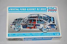 Kit Esci / Ertl 1/24 Crystal Ford Escort Rs 1800 - Na Caixa