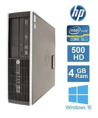 Desktop Hp Elite 8200 I5/500/4gb Win 10 Pro + Monitor 20 Hp
