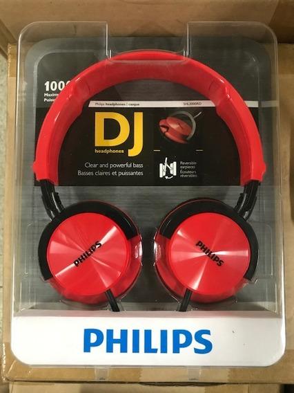 Audifonos Philips Dj Shl3000/rd Nuevos Originales