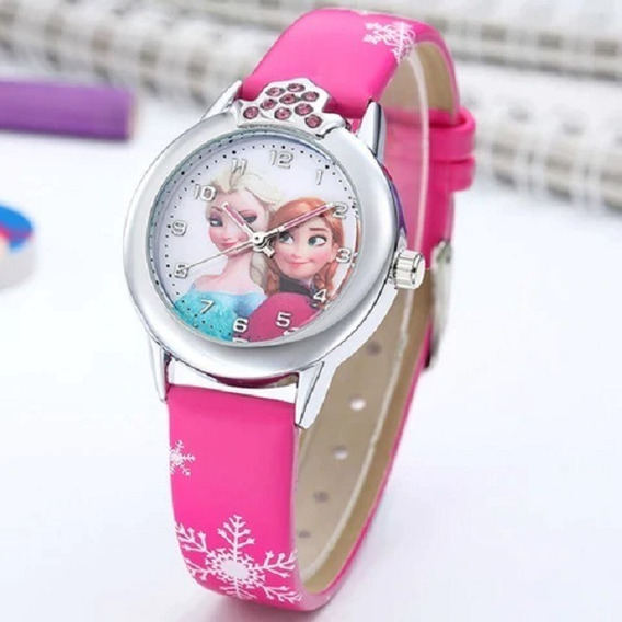 Relógio De Pulso Quartzo * Desenho Animado Princesa Frozen