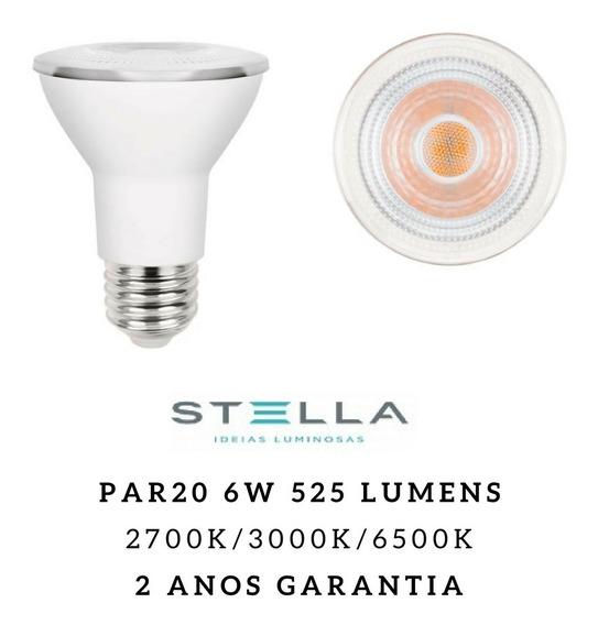 10x Lampadas Stella Led Par20 6w Sth8020 Quente Fria Neutro