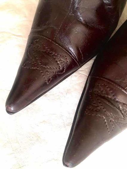 Sarkany Botas Cuero Cortas Botinetas 100% Cuero Zapatos