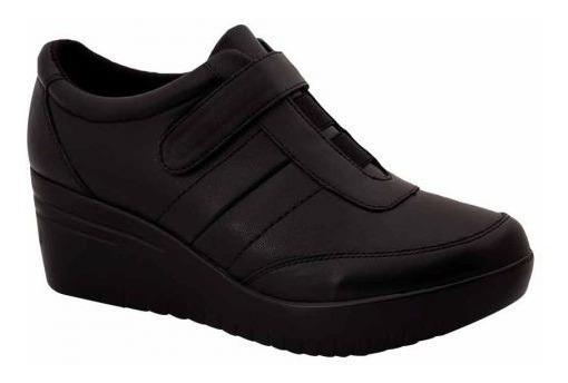 Zapatos De Plataforma De Piel De Borrego Confort Para Dama.