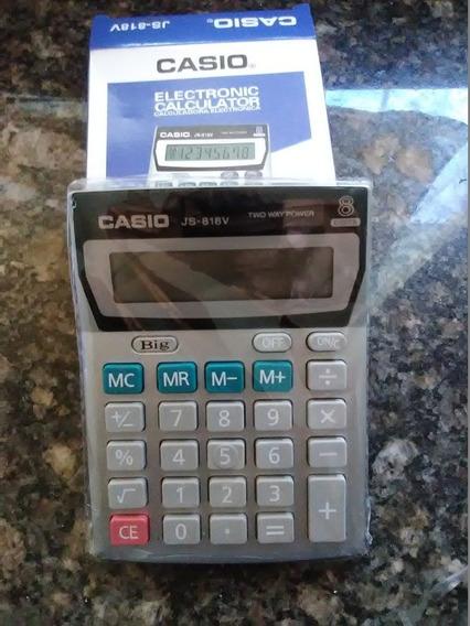 Calculadora Mesa Casio Js-818v Bodeg Oficina Detal 6$