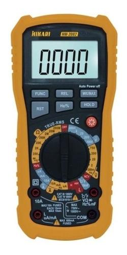 Multímetro Digital Cat Iv 600v Hikari Hm-2082 True Rms Medição