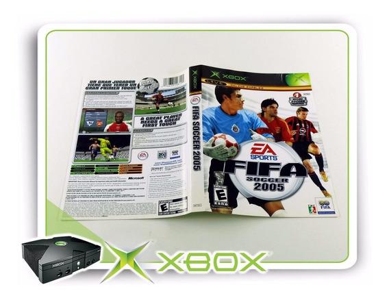Encarte Fifa Soccer 2005 Original Xbox Clássico