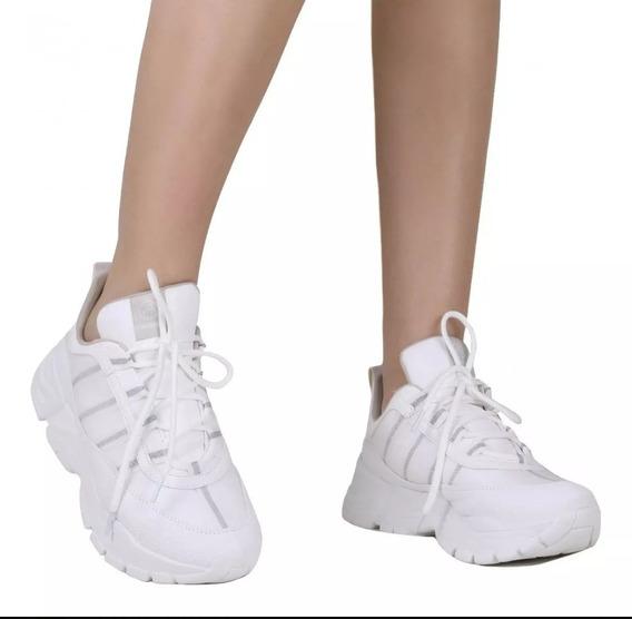 Tenis Feminino Via Marte Sneaker Dad Chunky 19-12103 Branco