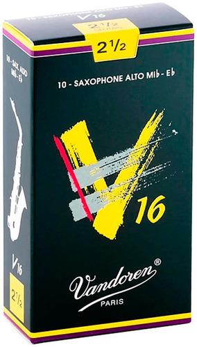 Pack De Cañas Vandoren V16 Sr7025 De Saxo Alto N2.5 X10u