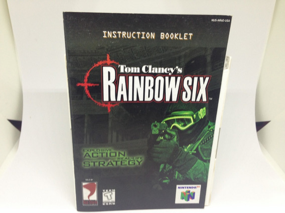 Apenas O Manual - Tom Clancy´s - Rainbow Six - Nintendo 64