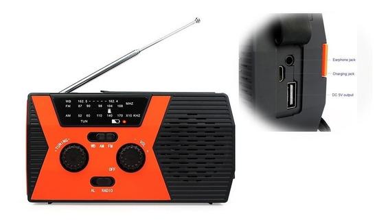 Rádio Receptor Retekess Hr12w Am Fm Noaa Multifuncional