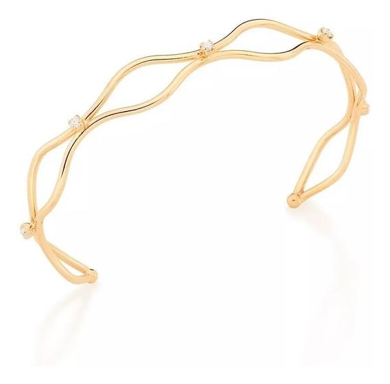 Bracelete Rommanel Aros Formado De Ondas Zirconias 551645