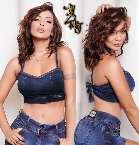 Top Rhero Jeans, Com Bojo Nos Seios 55969