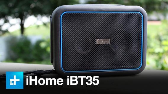 Caixa De Som Bluetooth Ihome Ibt35 A Prova De Água